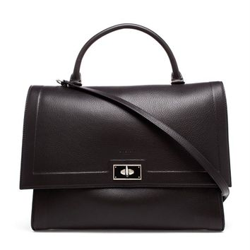 Medium Shark Bag in Black Leather - GIVENCHY
