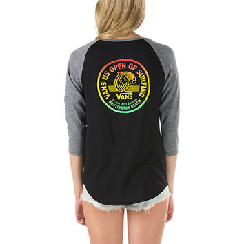 2015 USO Lock Up Classic Raglan T-Shirt | Shop Vans US Open of Surfing Collection at Vans