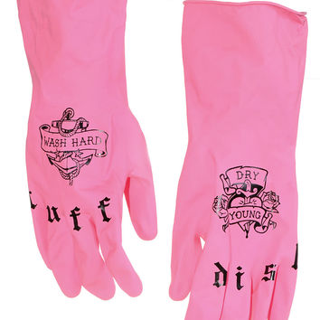 Tuff Dish Retro Tattooed Kitchen Gloves