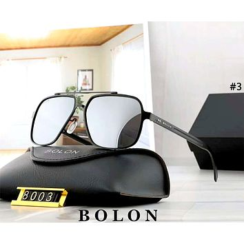 BOLON tide brand men and women large frame polarized frog mirror sunglasses #3
