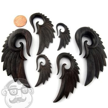 Sono Wood Angel Wing Hanger Plugs