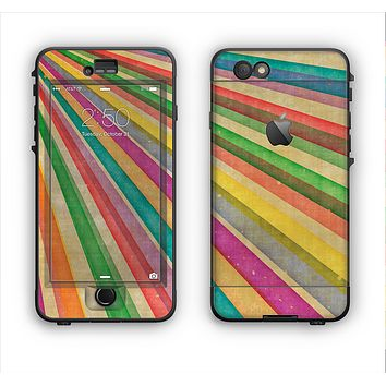 The Vintage Downward Ray of Colors Apple iPhone 6 Plus LifeProof Nuud Case Skin Set