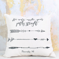 Straight as an Arrow Pillow - Gifts/Home Decor