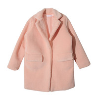 Soft Notched Collar Coat (Pink) | STYLENANDA