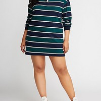 Plus Size Striped Polo Shirt Dress | Charlotte Russe