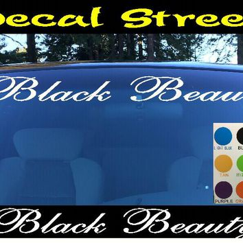 Black Beauty Windshield Visor Die Cut Vinyl Decal Sticker