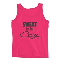 Sweat Like a Pig Look Like a Fox - Funny Workout Tank - Fitness Jersey Tank.