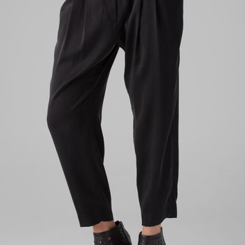 Nili Lotan Cropped Slouchy Pant with No Zip and Elastic Waist Band