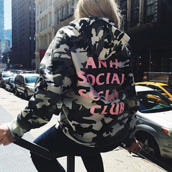 ANTI SOCIAL SOCIAL CLUB Women Men Fashion Top Multicolor Sweater Hoodie