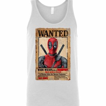 Deadpool Wanted Poster Unisex Tank Top