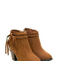 Double Braided Faux Suede Booties