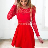 *The Lucky One Dress (Red) | Xenia Boutique | Women's fashion for Less - Fast Shipping