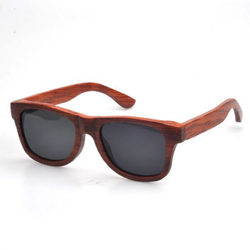 Wooden Sunglasses - Eco-Friendly Rosewood Wayfarer Wood Sunglasses | Hand Made from Rosewood | Rayban style wayfarers Polarized Lenses