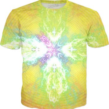 Spiraling Flower of Enlightenment [Close Up] Fractal Clothes | Rave & Festival Shirt