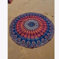 Round Bed Sheet Tapestry 150cm Bohemian Style Thin Chiffon Beach Yoga Towel Mandala Blanket