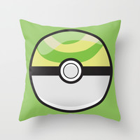 Nest Pokeball Throw Pillow by Pi Design Prints