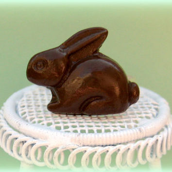 Chocolate Bunny Ring Perfect for Easter and Spring by LittleWooStudio