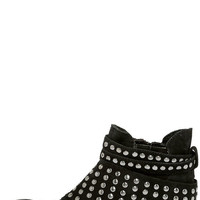 Matisse Reno Black Suede Leather Studded Ankle Boots