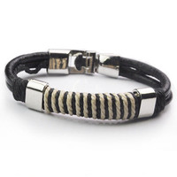 Awesome Hot Sale New Arrival Shiny Stylish Gift Great Deal Leather Men Accessory Cool Bracelet [6526724163]