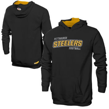 Pittsburgh Steelers Youth Team Player Pullover Hoodie - Black - http://www.shareasale.com/m-pr.cfm?merchantID=7124&userID=1042934&productID=520971607 / Pittsburgh Steelers