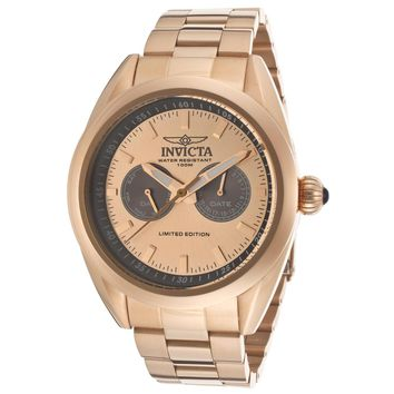 Invicta 14705 Men's Speedway Rose Gold Dial Quartz Multifunction Rose Gold Steel Watch