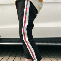 Fashionable hot sell spirit young man casual pants small foot pants