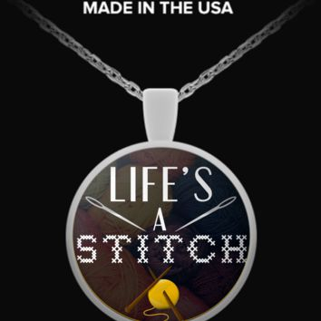 Life's A Stitch Necklace