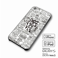 Pierce The Veil Song Lyric iPhone case 4/4s, 5S, 5C, 6, 6 +, Samsung Galaxy case S3, S4, S5, Galaxy Note Case 2,3,4, iPod Touch case 4th, 5th, HTC One Case M7/M8