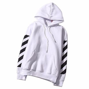 Hoodie Sweatshirt Letters Printed Womens hoodies poleron hombre Long Sleeve Pockets Pullover Stripe Tops Blusas