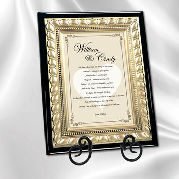 Romantic Love Poetry Plaque Gift