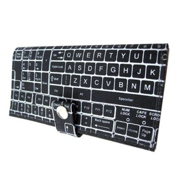 QWERTY  Pocketbook Slash Checkbook Wallet by QuietDoing on Etsy