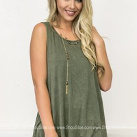 Burnt Sage Vintage Top