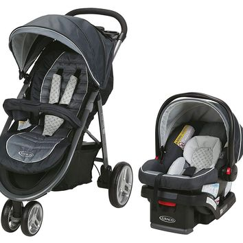 Graco Baby Aire3 Travel System Stroller w/ SnugLock 30 Infant Car Seat Mckinley