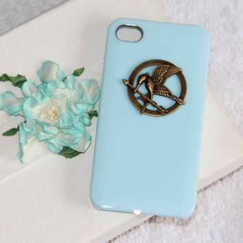 The Hunger Games mocking bird iphone 4/4S/5 case high quality phone case scratch resistant  fashion gifts may trends summer fashion