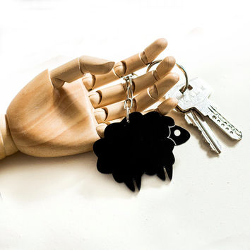 Black Sheep Keychain,Plexiglass Accessories,Lasercut Acrylic.Gifts Under 25