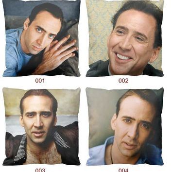 Nicolas Cage Kim Coppola Ghost Rider Con Air Rock Pillow Massager Decorative Pillows Emoji Characters Culture Gift