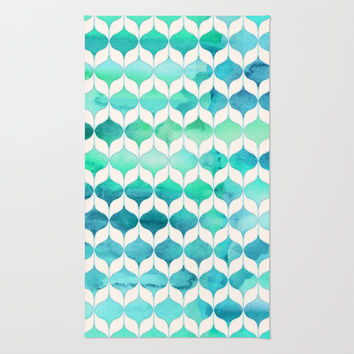 Ocean Rhythms and Mermaid's Tails Rug by Micklyn
