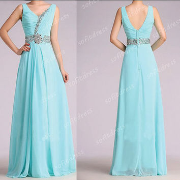 Off Shoulder Prom Dresses Tiffany Blue Dress Long La Femme