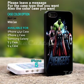 The Avengers - For iPhone 5 Black Case Cover