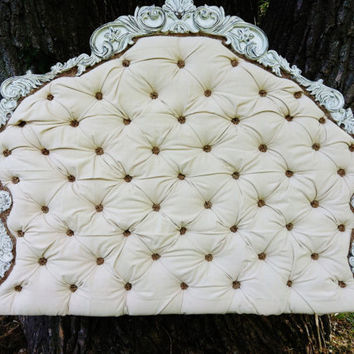 Custom French Queen Tufted Headboard