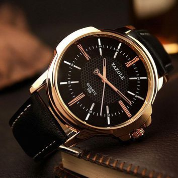 Mens Rose Gold Business Style Watch