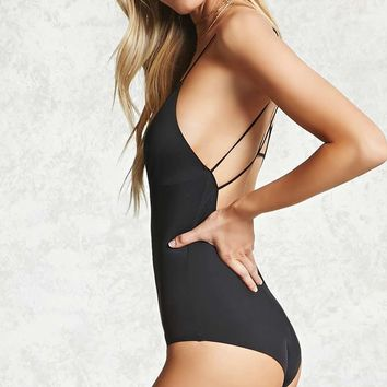 Strappy V-Neck Cheeky Bodysuit