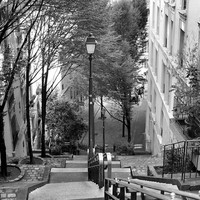 Paris Print - Black and White - Paris Photography- Montmartre Steps - Paris Stairs - French Home Decor - Living Room Art - Paris Wall Art