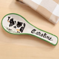 Personalized Cow Spoon Rest
