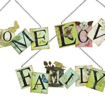 3 Wall Plaques - Home, Love And Family