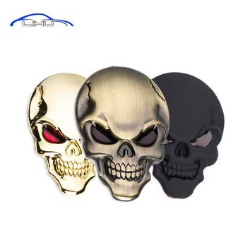 3D Metal Skull Car Sticker skull car styling stickers accessories Truck Motor Car Hood decorative stickers