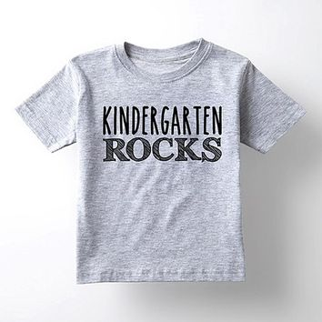 Athletic Heather 'Kindergarten Rocks' Tee - Toddler & Kids