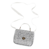 Glitter Silver Girls' mini Edie glitter bag - jewelry & accessories - Girl's new arrivals - J.Crew