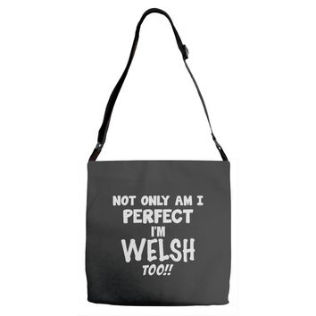 perfect welsh Adjustable Strap Totes