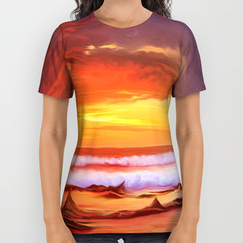 Evening flame All Over Print Shirt by exobiology